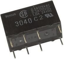 Nte Electronics R40-11D2-5/6 Signal Relay, Dpdt, 5V/6V Dc, 2A, Thd (10 Pieces)