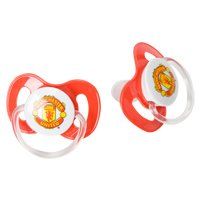 Official Manchester United FC Baby Soothers Pacifiers with Club Crest
