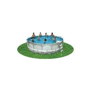 Intex ultra frame 16 foot by 48 inch round pool set for Garten pool set 500