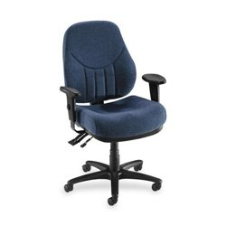 Lorell High-Back Multi-Task Chair, 26-7/8 by 26 by 39-Inch to 42-Inch-1/2-Inch, Blue