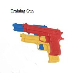 Martial Arts Solid Hard Plastic Single Training Gun - RED