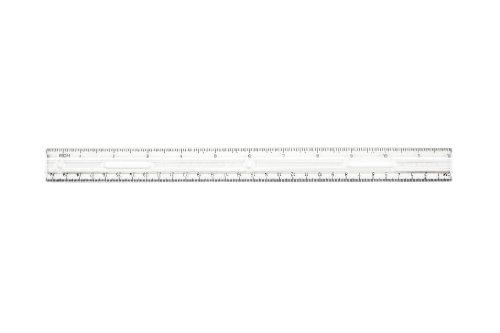 Charles Leonard Inc., Ruler, Plastic, UPC Coded, 12 Inches Clear, 1 Each (80112)