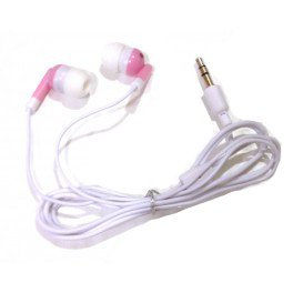 TFD Supplies Wholesale Bulk Earbuds Headphones 100 Pack For Iphone, Android, MP3 Player - Pink