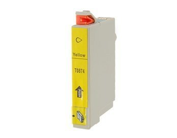 T0874 Y Yellow Color Disposable Inkjet Cartridge For Epson R1900 (Grey)