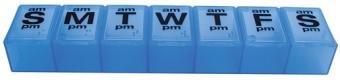 Apex 7 Day Xxl Twice A Day Weekly Pill Organizer - Translucent Blue