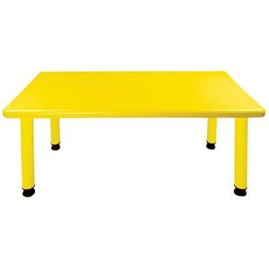ECR4KIDS Resin Rectangle Adjustable Activity Table by Early Childhood Resources LLC