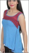 Chikbird Women's Top (CBSSABL012_Blue_Medium)