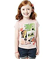 Pure Cotton Assorted Photographic Print T-Shirt