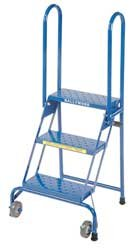 BALLYMORE 3KNK8 Rolling Ladder, 3Step, H4Ft4In