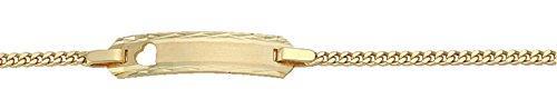 Damen Schmuck Gold Identitätsarmband Flachpanzer / Panzerkette aus 585 Gelb Gold ( 14 cm ) ( 1,7 mm ) jetzt bestellen