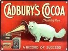 LARGE 40CM CADBURY'S COCOA METAL WALL SIGN