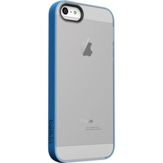 Belkin Grip Candy Sheer Case For iPhone 5/5S - Retail Packaging - Blue/Smoke