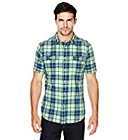 North Coast Pure Cotton Fluro Checked Shirt