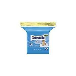 Cottonelle Flushable Moist Wipes Refill Pack, Fresh 140 ea