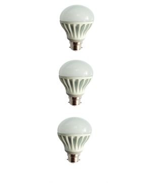 12W-Virgin-Plastic-Led-Bulb-(White,-Pack-Of-3)