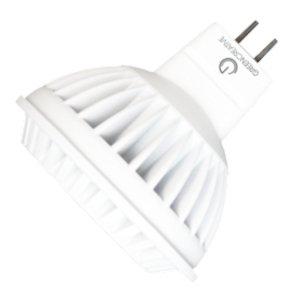 6.5 Watt - Led - Mr16 - 35 Watt Equal - 650 Candlepower - 2700K Warm White - 80 Color Rendering - 38 Deg. Flood - Green Creative 95333