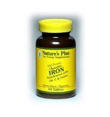 Nature's Plus - Chewable Iron W/ Vit C, 90 chewable tablets