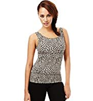 Secret Slimming™ Light Control Round Neck Animal Print Camisole