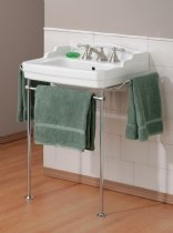 Cheviot Bathroom Sink W/ Metal Console W/ 8