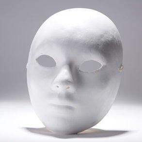 Amazon.com: Woman Paper Mache Mask: Costume Masks: Clothing