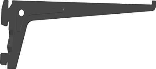 Element System PRO-Träger Regalträger 1-reihig, 2 Stück, 7 Abmessungen, 3 farben, lange 20 cm für Regalsystem, Wandschiene, schwarz, 18133-00004
