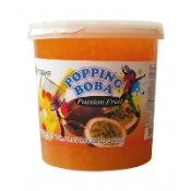 Passion Fruit Popping Boba (Four 7-Lbs Tubs) *Case*