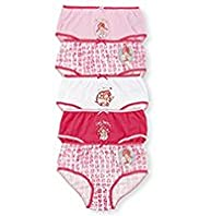 5 Pack Pure Cotton Emily Button&#8482; Briefs