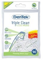 dentek-triple-clean-floss-picks-mint-90-ea-by-dentek