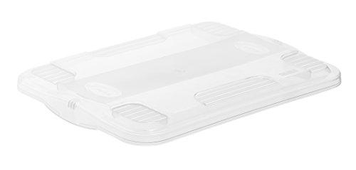 Deckel zur Aufbewahrungsbox AGILO A4, transparenter Deckel für System-Box aus Kunststoff, ca 40 x 29,5 x 3,5