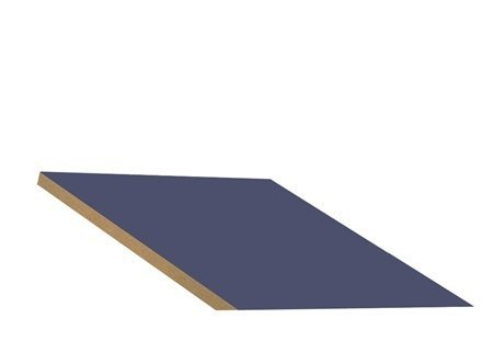 "Sloping Hood In-Line Filler Color: Blue, Size: 6.63"" H X 15"" W X 20"" D front-543321"