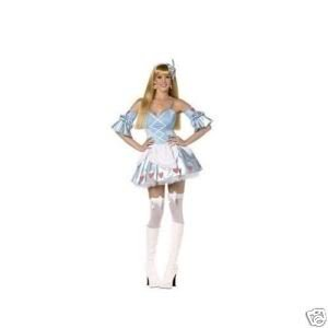Rebel Toons Alice in Wonderland Costume – Blue, White and Red – Ladies