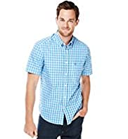 Blue Harbour Supersoft Pure Cotton Checked Shirt