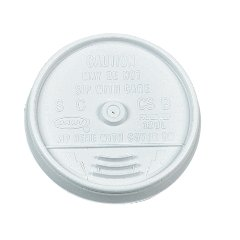 Dart 16UL Plastic Lids, for 16oz Hot/Cold Foam Cups, Sip-Thru Lid, White (Case of 1000)