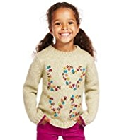 Tapestry Floral Embroidered Knitted Jumper