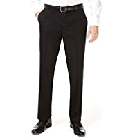 XS Machine Washable Flat Front Twill Trousers