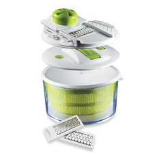 The Sharper Image® 4-In-1 Salad Spinner Mandoline Slicer