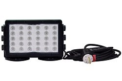 150 Watts Magnetic Led Light W/ 20' Cord And L6 Plug - 30 Leds - 14,790 Lumens - 120-277V Ac(- Spot-