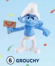 McDonalds - The Smurfs 2 2013 Happy Meal Toy - Grouchy #6 - 1