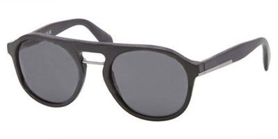 prada Prada 09PS 1B01A1 Black 09PS Portrait Round Sunglasses Lens Category 3