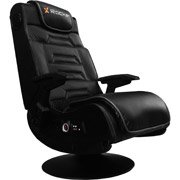 X Video Rocker Pro Series Pedestal electronic gaming chair, Black/Black