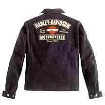 Harley Davidson Men's Gear Head Cotton Garage Jacket. This jacket is a classic garage design made with 100% cotton twill decorated with patches on the chest and sleeves along with striping down the sleeve and a large embroidery on the back. Zippered front, hand-warmer pockets, and a snap-down collar make this a must-have for any season. 98402-06VM - Buy Harley Davidson Men's Gear Head Cotton Garage Jacket. This jacket is a classic garage design made with 100% cotton twill decorated with patches on the chest and sleeves along with striping down the sleeve and a large embroidery on the back. Zippered front, hand-warmer pockets, and a snap-down collar make this a must-have for any season. 98402-06VM - Purchase Harley Davidson Men's Gear Head Cotton Garage Jacket. This jacket is a classic garage design made with 100% cotton twill decorated with patches on the chest and sleeves along with striping down the sleeve and a large embroidery on the back. Zippered front, hand-warmer pockets, and a snap-down collar make this a must-have for any season. 98402-06VM (Harley Davidson, Harley Davidson Mens Outerwear, Apparel, Departments, Men, Outerwear, Mens Outerwear)
