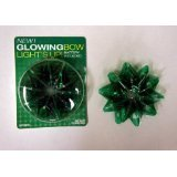 Fiber-optic Green LED Glowing Gift Bows - 1