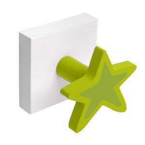 Percha Base Blanca Estrella Verde por NESU en BebeHogar.com