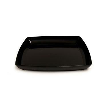12 In. Black Square Plastic Tray Party Accessory front-456398