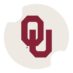 Set Of Two University Of Oklahoma Carster Collegiate Car Drink Coasters