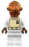 LEGO Star Wars LOOSE Mini Figure Admiral Akbar - 1