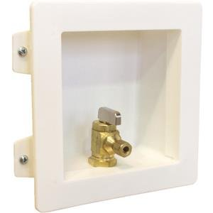 Low Lead Brass Pex Ice Maker Valve & Enclosure Box front-176673