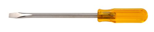 """Xcelite S388 Chrome Vanadium Steel Slotted Square Blade Screwdriver, 3/8"""" Head, 8"""" Blade Length, 12-1/2"""" Overall Length front-865174"""