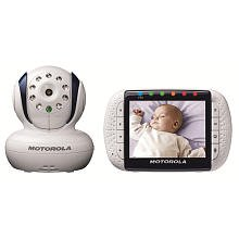 Motorola Wireless Video Baby Monitor Model MBP34T 3.5 Inch Digital Color Screen with Travel Case