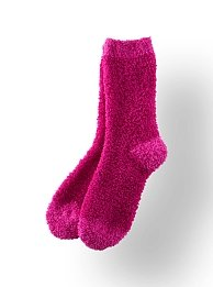 Bath & Body Works Accessories Extra-Long Lounge Socks Vanilla Scented & Shea-Infused - Pink with Lighter Pink Accents